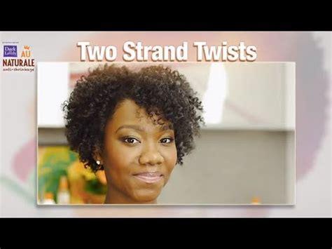 strand twist natural hairstyle  dark