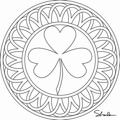 Coloring Shamrock Pages Printable Eat Paste March