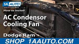 How To Install Repair Replace Part 1 Ac Condensor Cooling Fan Dodge Ram 02-08 1aauto Com