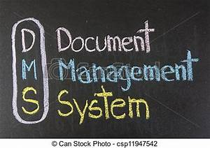 drawing of dms acronym document management systemcolor With document management system logo