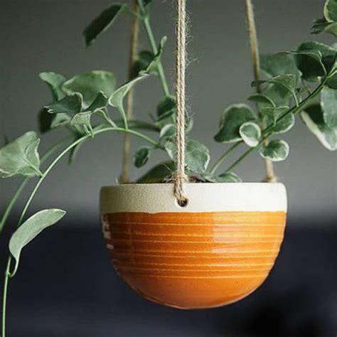 hanging planters planter baskets ceramic unique take square