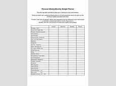 7 Best Images of Free Printable Weekly Budget Planner