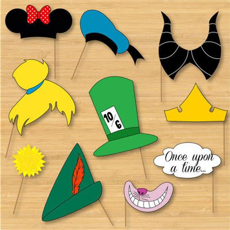 disney photo booth props mickey mouse  littleforests