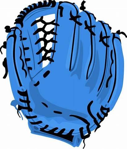 Glove Baseball Softball Clip Clipart Mitt Drawing