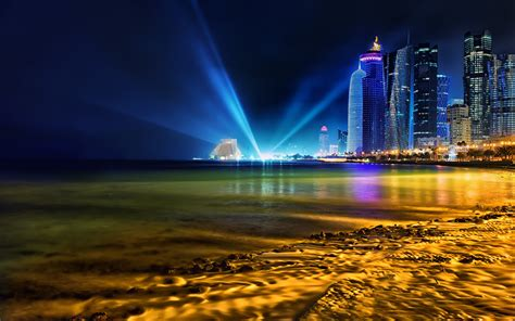 Background Images Hd by Doha Qatar Skyline Hd World 4k Wallpapers Images