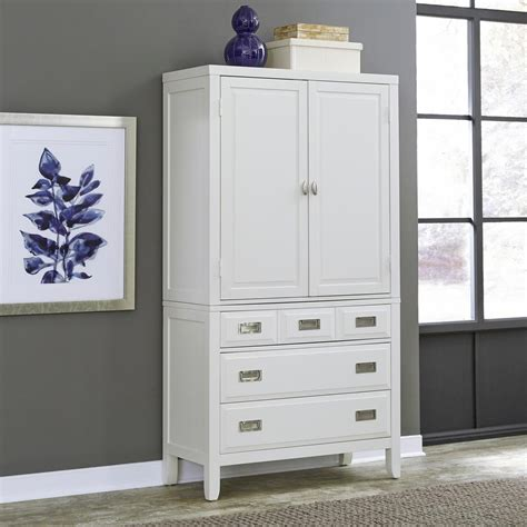 wardrobe cabinet with drawers home styles newport white armoire 5515 45 the home depot