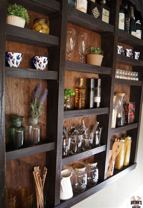 kitchen wall storage ideas she nails clear suction cups to the bottom of wall