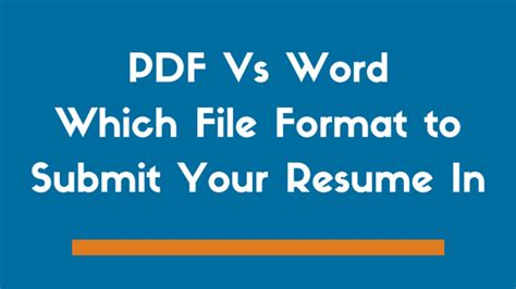 pdf vs word which file format to use when sending a