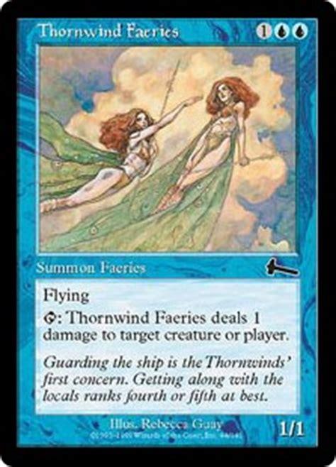 mtg faerie deck legacy thornwind faeries urza s legacy gatherer magic the