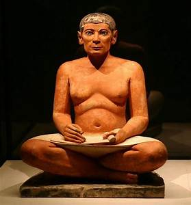 File:The seated scribe.jpg - Wikimedia Commons
