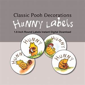 15 inch round hunny labels instant digital download With 5 inch round labels