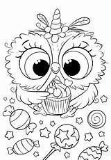 Coloring Unicorn Bojanke Owl Colouring Cuties Animal Printables Printable раскраски Sheets Bonton Disney Preschool антистресс Slatkice Målarböcker Adult Rita Poppy sketch template