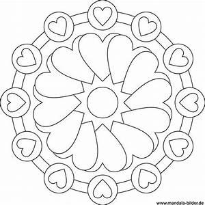 Herzen Zum Ausmalen : mandala von herzen gratis ausmalbild ~ Buech-reservation.com Haus und Dekorationen