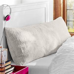 faux fur sherpa body pillow cover pbteen With body pillow protectors covers
