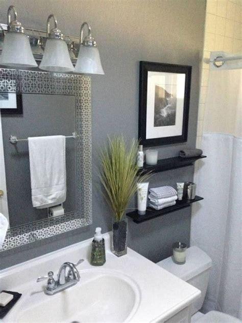 perfect gray  bathroom decorating ideas   budget
