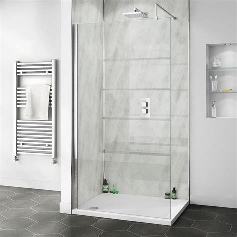 orion grey marble xxmm pvc shower wall panel