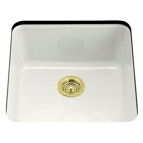 white single bowl kitchen sink kohler dual mount cast iron 21 in single basin kitchen 1868