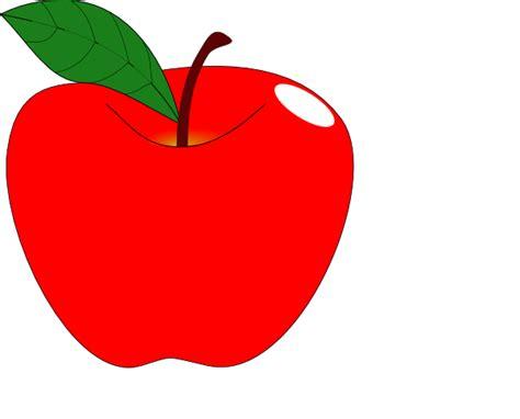 Red Apple 1 Clip Art at Clker.com - vector clip art online ...