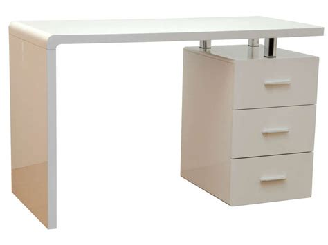 table pour ordinateur de bureau bureau gloss coloris blanc vente de bureau conforama