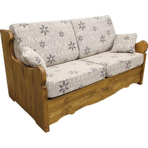 canapé bois flotté canapé yret convertible en bois patiné bed express