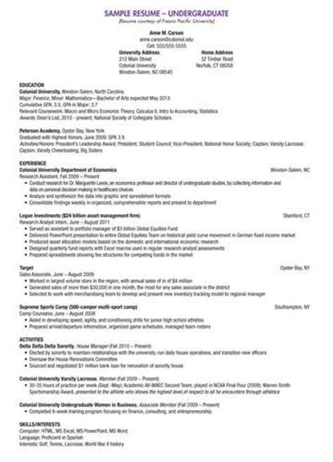sle biology major resume