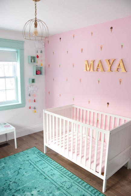 A Baby Girl's Mint And Pink Nursery  The Sweetest Digs