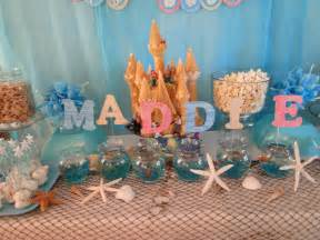 Image of: Kara 39 Party Idea Mermaid Sea Birthday Applicable Beach Theme Décor With Fresher Ideas And Results