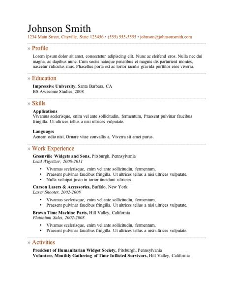 Resume With Accent by Primer 5 Resume Word Template Open Resume Templates
