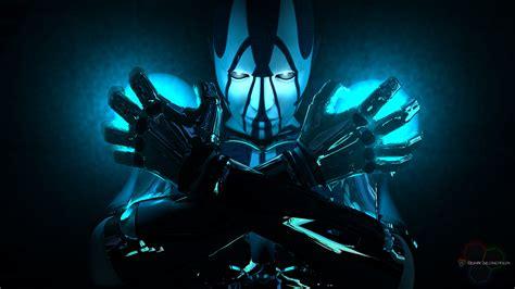 fondo de pantalla robot blue