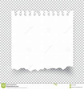 Sticky Torn Note Paper Isolated On Transparent Stock ...