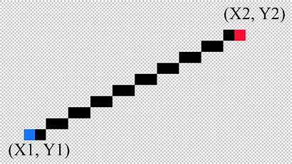 Line Pixelated Java Code Draw Mean Example