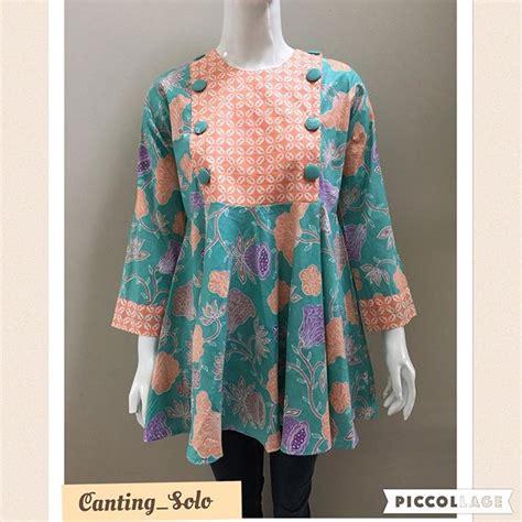 Jual Baju Wanita Dewasa Online Model Blouse Batik Remaja Collar Blouses