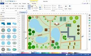 Visio landscape template related keywords visio for Visio garden template