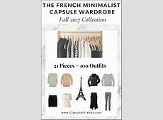 The French Minimalist Capsule Wardrobe Fall 2017