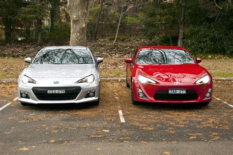toyota subaru brz subaru brz vs toyota 86 autos weblog