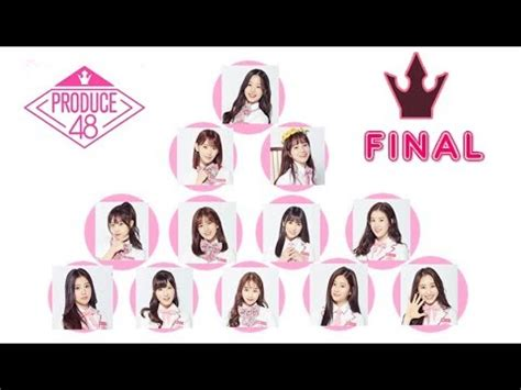 produce  final top  official ranking winners youtube