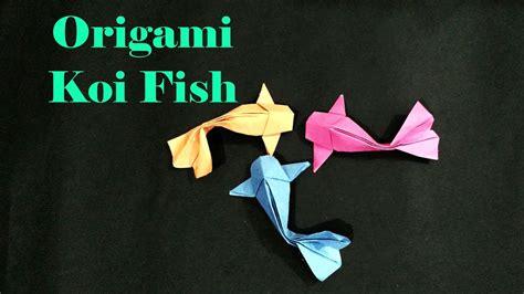 Tutorial How Make Origami Koi Fish Youtube