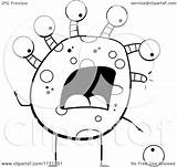 Monster Eye Cartoon Clipart Eyeball Coloring Dropping Vector Thoman Cory Outlined Royalty Collc0121 sketch template