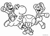 Mario Coloring Brothers Printable sketch template