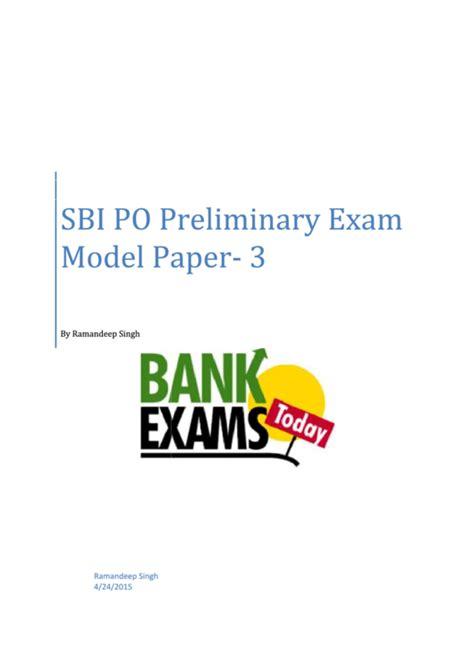 sbi exam templates