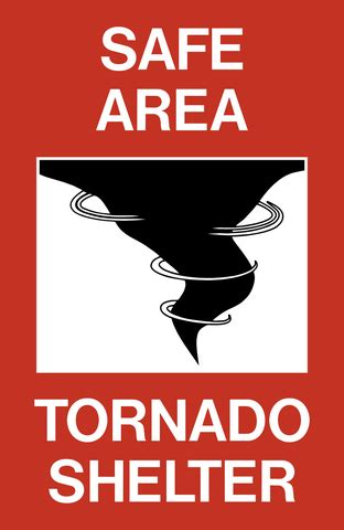 Tornado Shelter Area Signs