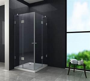 Dusche Ohne Duschtasse : rahmenlose duschkabine luxorline 90 x 90 x 195 cm ohne duschtasse glasdeals ~ Indierocktalk.com Haus und Dekorationen
