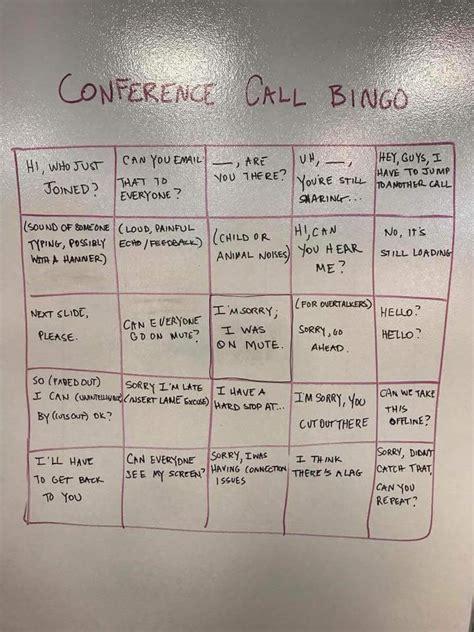 game  conference call bingo  poke