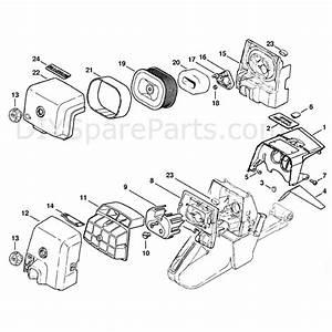 Stihl Ms 440 Chainsaw  Ms440 Z Magnum  Parts Diagram  Shroud