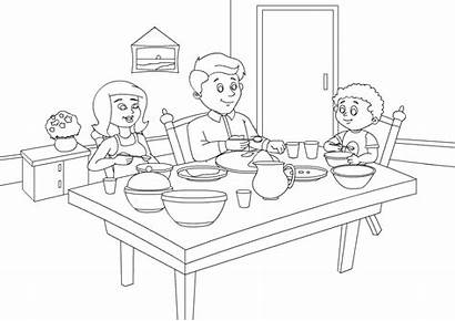 Coloring Dining Pages Living Sheet Worksheet Activities