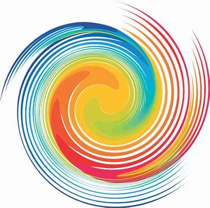 Spiral Swirl Dye Tie Rainbow Clipart Background