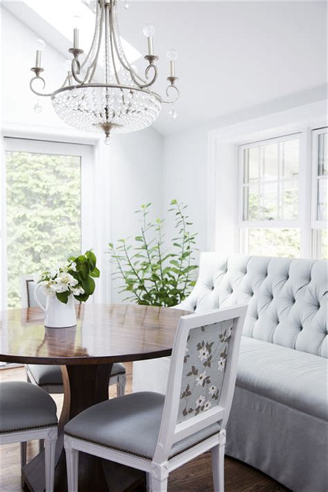 gray tufted sofa breakfast nook photos design ideas remodel and decor