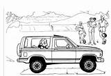 Bronco Ford Coloring Pages Truck Explorer Template Sketch Sheets Carscoloring Concept Broncos 4x4 Trucks sketch template