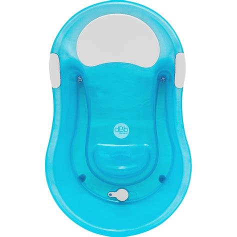 Baignoire Bébé 06 Mois + Transat Intégré Turquoise