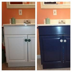 Painting a laminate bathroom vanity home ideas pinterest for Painting laminate bathroom vanity